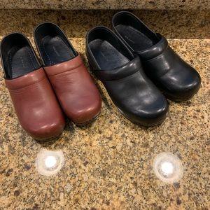 Lands End Leather Clogs Lot 2 Professional Shoes 9